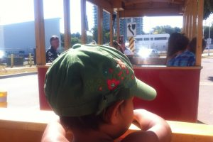 kid in hamilton waterfront trolley