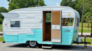 old restored rv trailer
