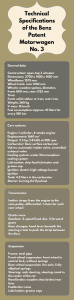 Technical Specifications of the Benz Patent Motorwagen No. 3
