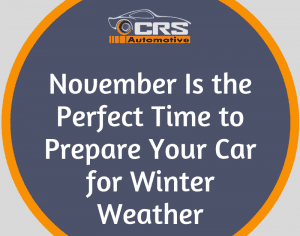 November Is the Perfect Time to Prepare Your Car for Winter Weather FEATURED