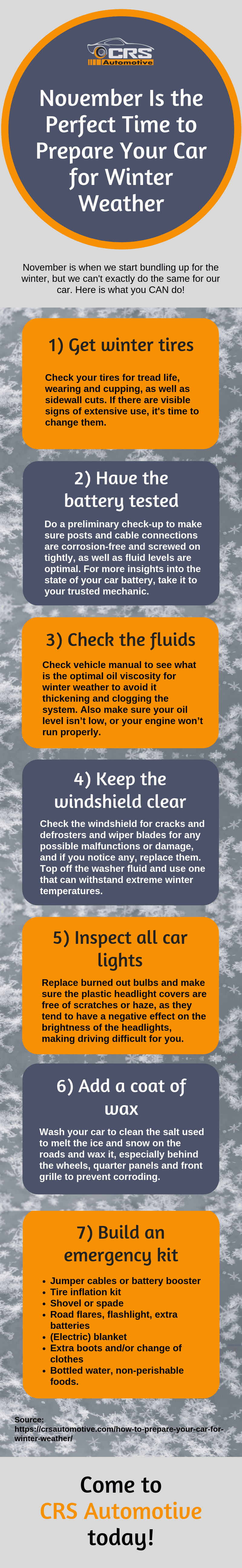November Is the Perfect Time to Prepare Your Car for Winter Weather Infographic
