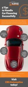 5 Tips to Handle Car Financing Successfully Infographic