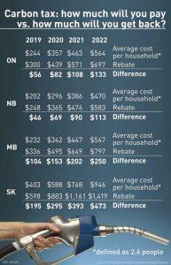 ottawa carbon tax and rebate plan