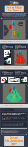 How to Adjust Car Mirrors Infographic