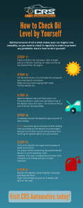 How to Check Oil Level by Yourself - Infographic