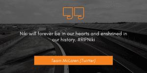 Team McLaren (Twitter) niki lauda dies