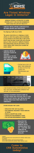 Are Tinted Windows Legal in Ontario infographic