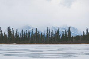 frozen lake canada
