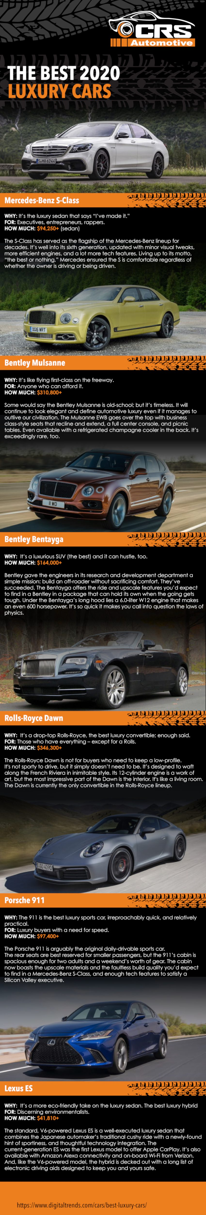 The Best 2020 luxury cars-Infographic