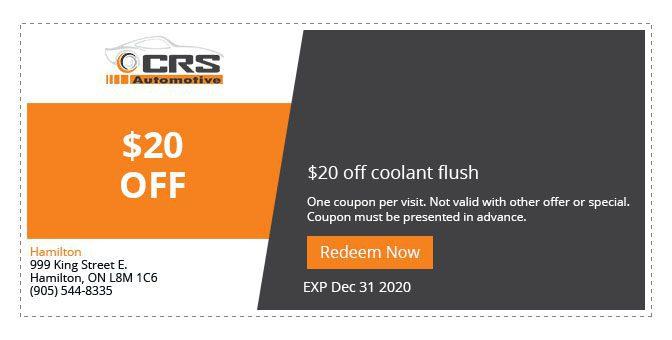 CRS Automotive Hamilton auto service discounts 2020