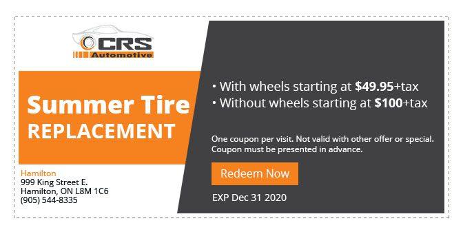 CRS Automotive Hamilton auto service winter tires replacement 2020